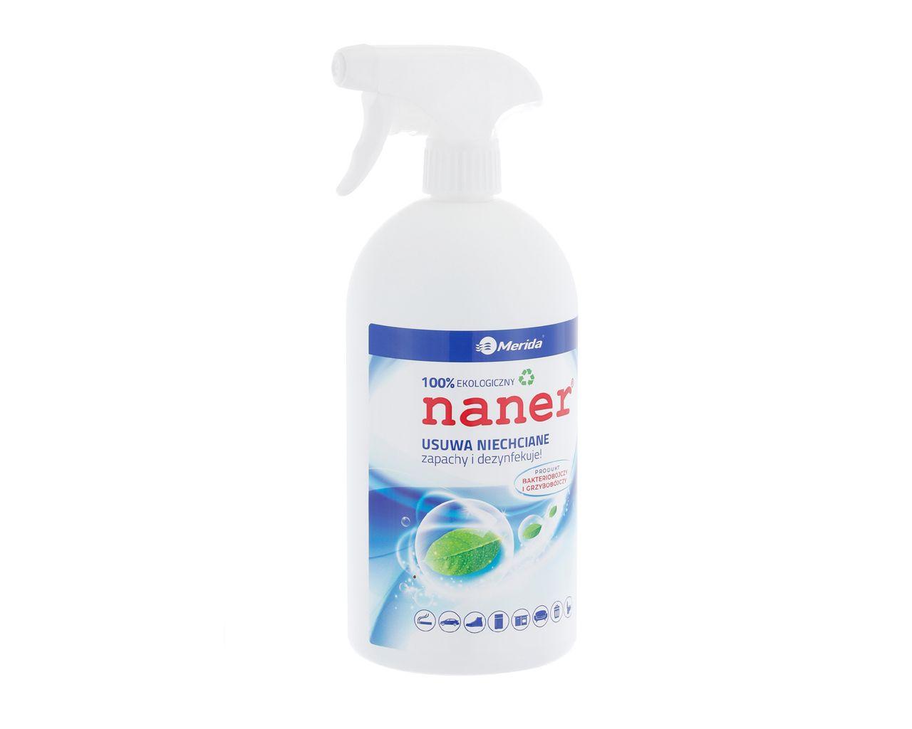 NANER dezynfekujący preparat neutralizujący zapachy, butelka 1 l ze spryskiwaczem