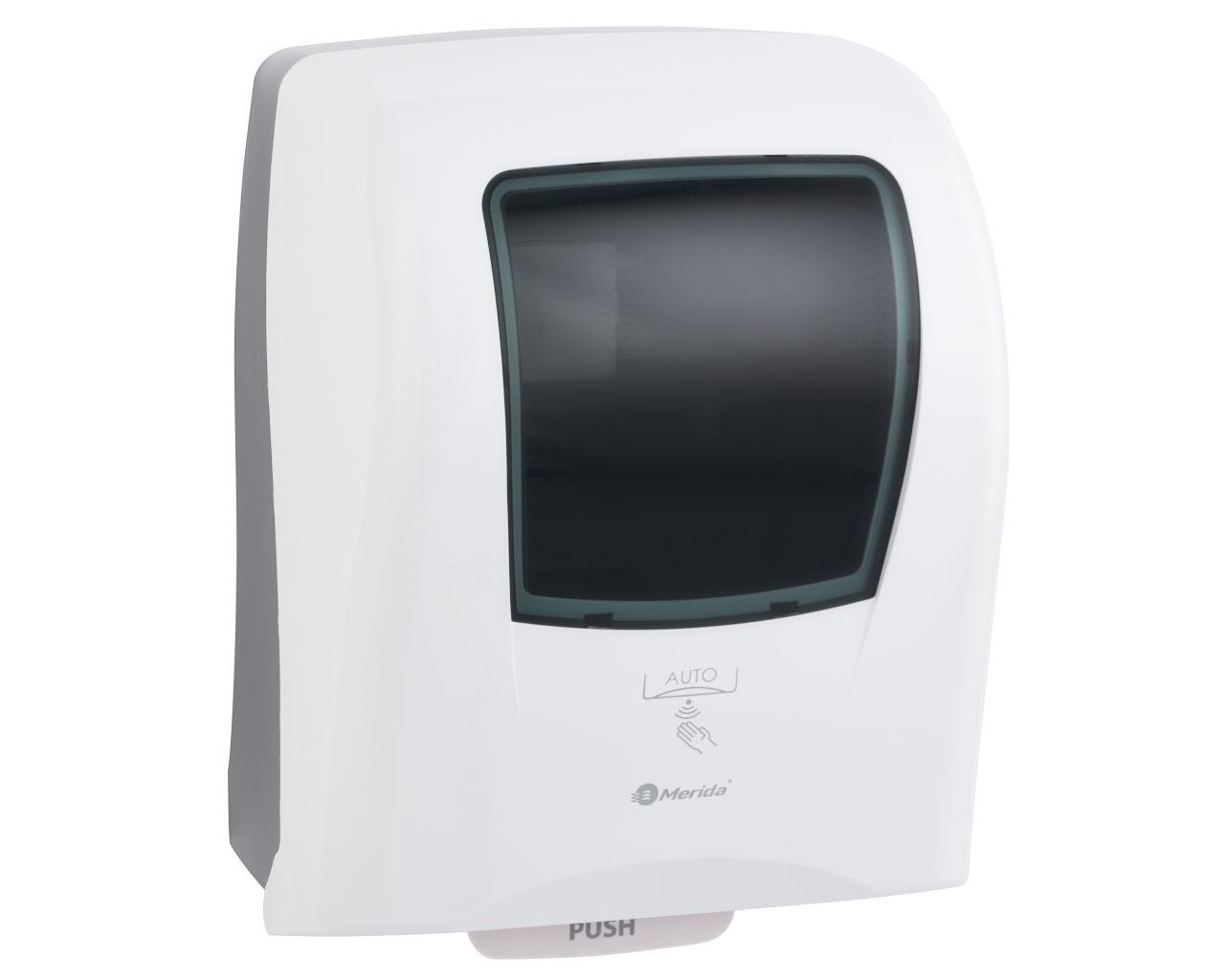 Automatyczny bezdotykowy podajnik ręczników papierowych w roli MERIDA ONE biały