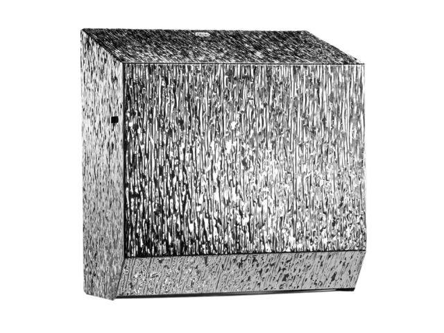 Mechaniczny podajnik ręczników papierowych w rolach MERIDA INOX DESIGN MAXI - ICICLE