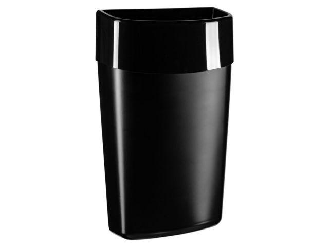 Kosz otwarty wiszący MERIDA COMO/ONE, pojemność 40 litrów, CZARNY