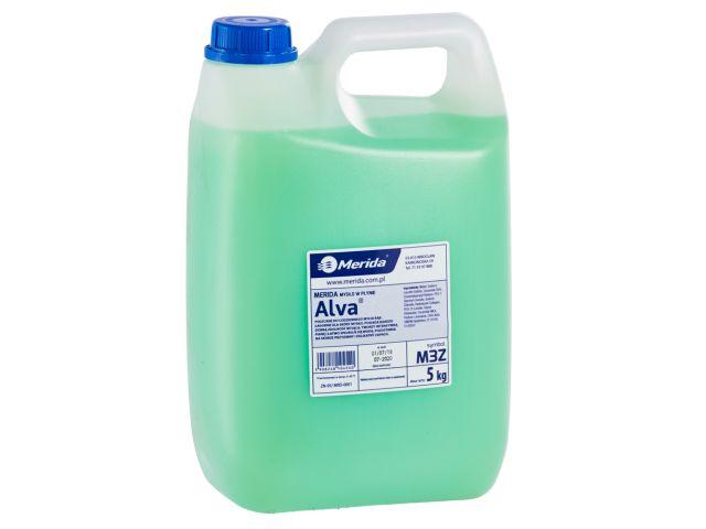 Mydło w płynie MERIDA ALVA zielone, kanister 5 kg, zapach cytrusowy