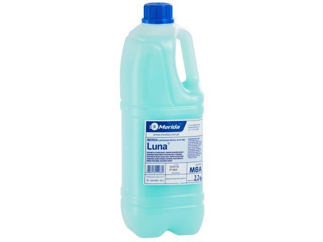 Mydło w płynie MERIDA LUNA seledynowe, butelka 2,2 kg, zapach naomi