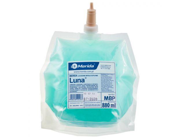Mydło w płynie MERIDA LUNA seledynowe, wkład jednorazowy 880 ml, zapach naomi