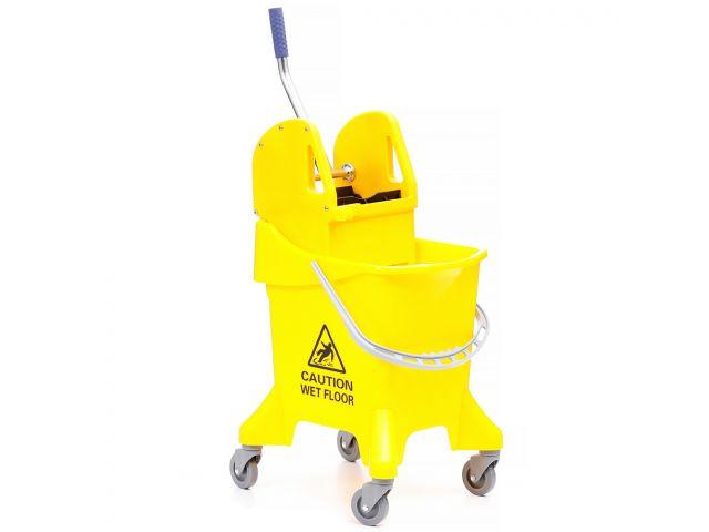 Wózek do sprzątania, jednowiadrowy, wiadro 31 l, prasa do mopów