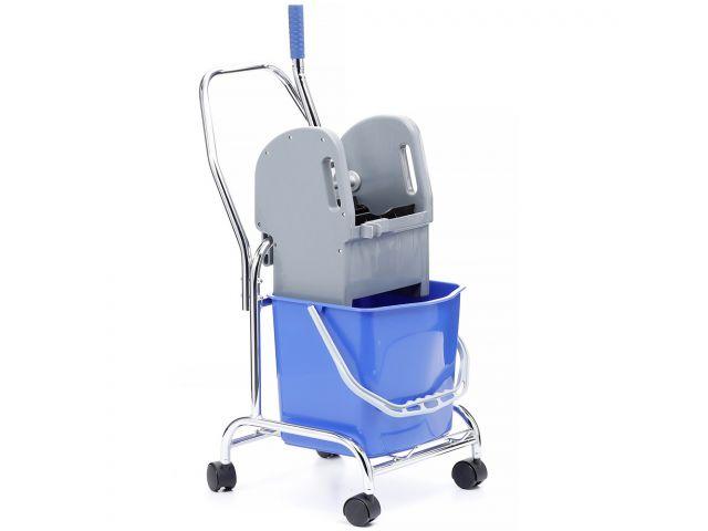 Wózek do sprzątania jednowiadrowy, wiadro 17 l, prasa do mopów