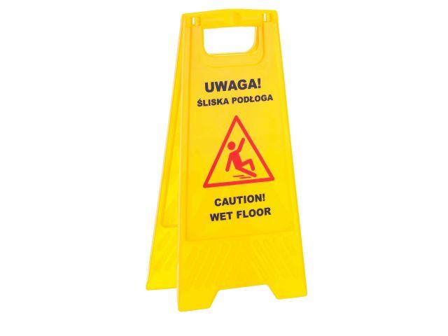 """Tablica ostrzegawcza """"Uwaga! Śliska podłoga"""""""