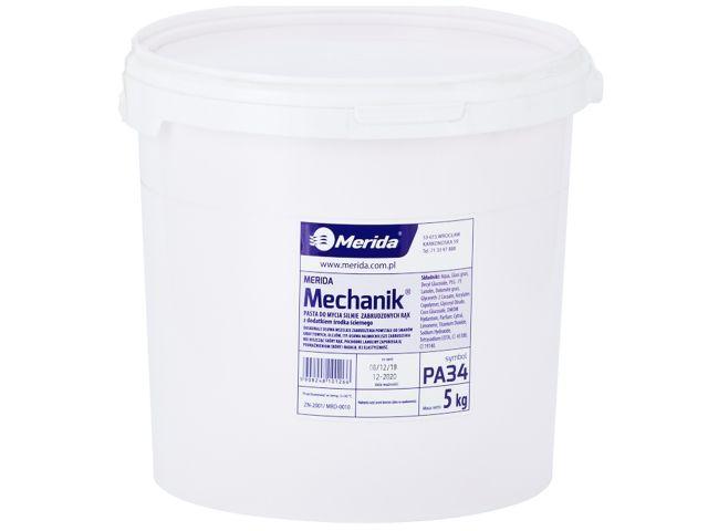 Pasta do mycia silnie zabrudzonych rąk     MERIDA MECHANIK, wiadro 5 kg