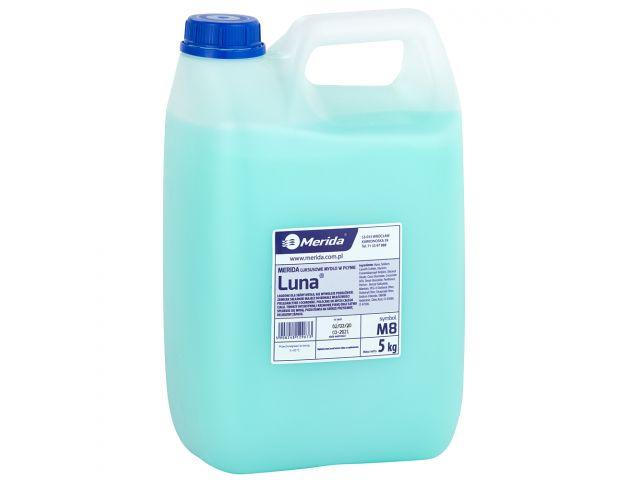 Mydło w płynie MERIDA LUNA seledynowe, kanister 5 kg, zapach naomi