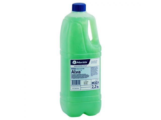 Mydło w płynie MERIDA ALVA zielone, butelka 2,2 kg, zapach cytrusowy