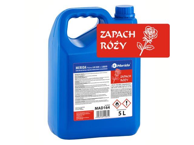 Płyn dezynfekcyjny o zapachu róży MERIDA POLANA LUX DDR+ LIQUID do higienicznej dezynfekcji rąk, kanister 5 l