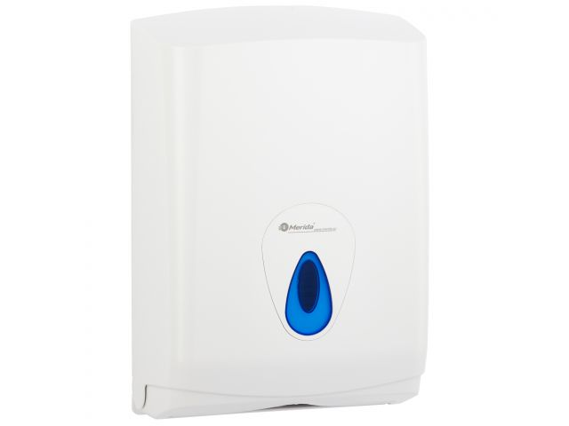 Pojemnik na pojedyncze ręczniki papierowe MERIDA TOP MAXI, okienko niebieskie