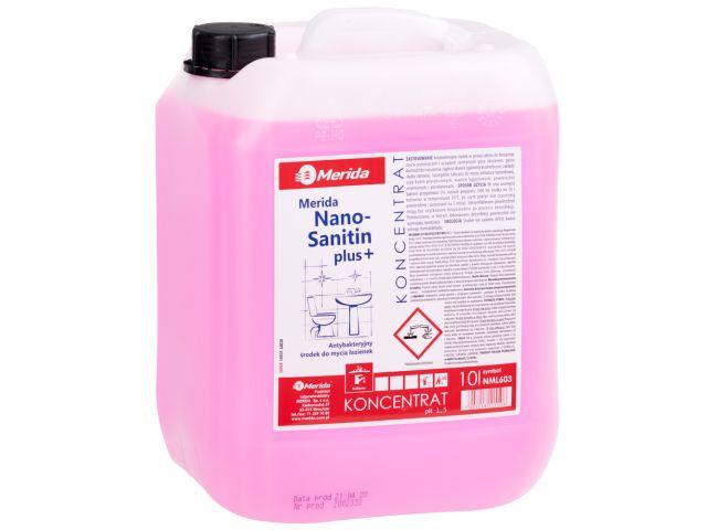 MERIDA NANO SANITIN PLUS środek do mycia pomieszczeń i urządzeń sanitarnych, kanister 10 l