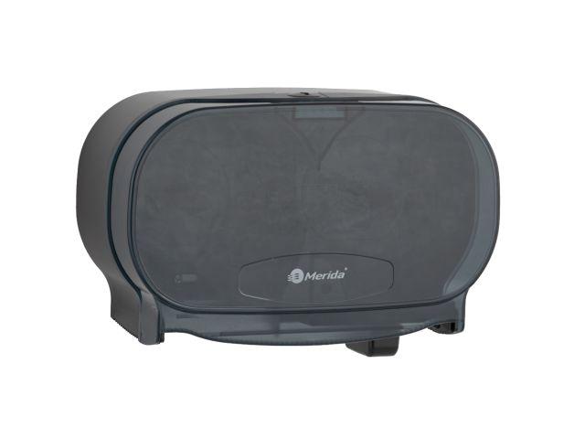Pojemnik na dwie rolki papieru toaletowego bez gilzy MERIDA ONE, czarny