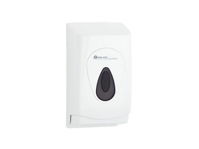 Pojemnik na papier toaletowy w listkach MERIDA TOP z tworzywa ABS, okienko SZARE