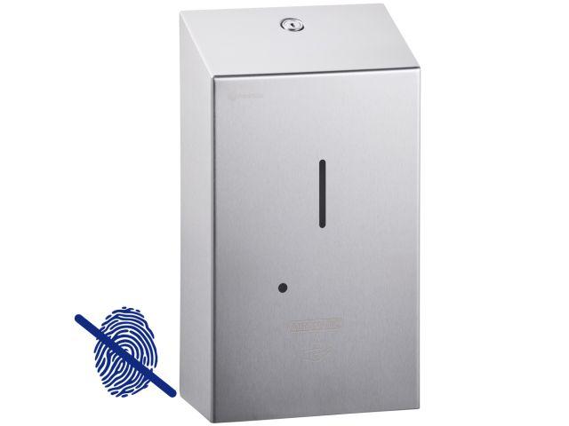 Bezdotykowy automatyczny dozownik mydła w płynie MERIDA STELLA AUTOMATIC Anti-FingerPrint, pojemność zbiornika 1000 ml, stal matowa z powłoką AFP