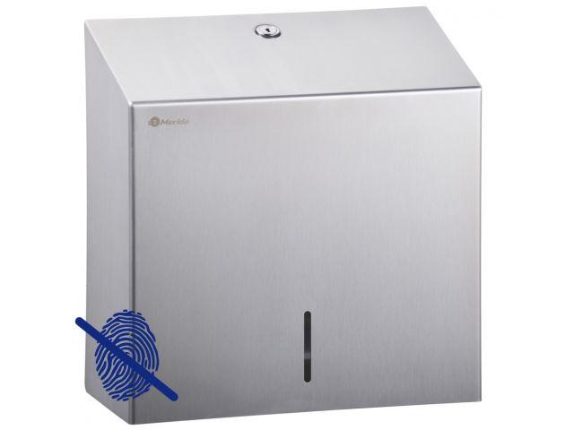 Pojemnik na ręczniki papierowe MERIDA STELLA Anti-FingerPrint MAXI stal matowa z powłoką AFP