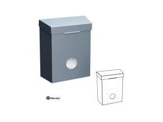Kosz do damskich toalet zintegrowany z pojemnikiem na torebki higieniczne