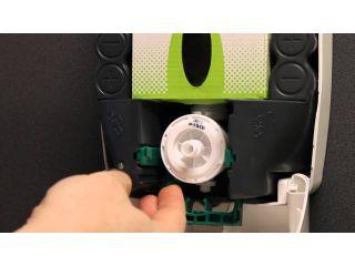 4. Wymiana wkładu z mydłem w pianie w dozowniku automatycznym MERIDA TOP.
