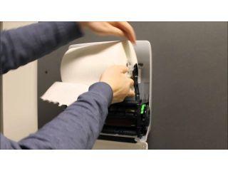 4. Wymiana wkładów i obsługa mechanicznego podajnika ręczników papierowych w rolach (CJB302).