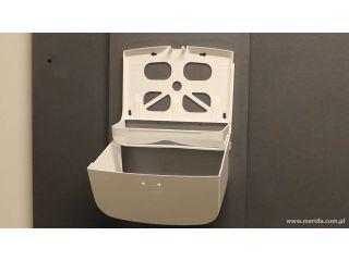 5. Uzupełnienie wkładu w pojemniku na pojedyncze ręczniki papierowe MERIDA TOP (ATN201)
