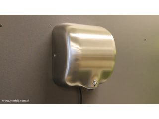2. Obsługa suszarki do rąk MERIDA TURBO JET w obudowie stalowej (EIM102).