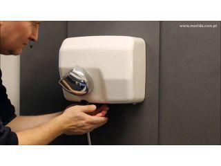 7. Obsługa suszarki do rąk STARFLOW PLUS, metalowa, biała (EIB103).