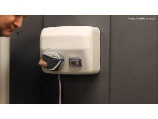 10. Obsługa suszarki do rąk STARFLOW PLUS z przyciskiem, metalowa, biała (EIB203).