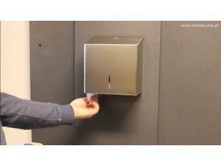 5. Wymiana wkładu w pojemniku na papier toaletowy MERIDA STELLA R10 ADVANCED, stal matowa (BSM203).