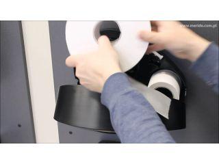 6. Wymiana wkładu w pojemniku na papier toaletowy z linii MERIDA MERCURY z uchwytem na resztkę rolki (BMC201)