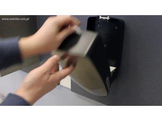 7. Wymiana wkładu w pojemniku na papier toaletowy w listkach z linii MERIDA MERCURY (BMC401)