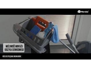 Wózki do sprzątania dwuwiadrowe.